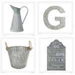 tons of great ideas for galvanized decor