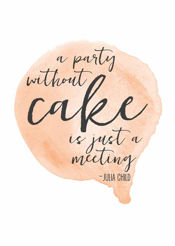 Love this pretty Julia Child quote free printable (it's a free set of four!)