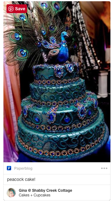 A PEACOCK CAKE! This is soooo gorgeous!
