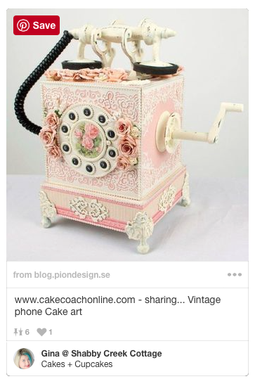 What a creative cake! It looks like an old victorian phone!