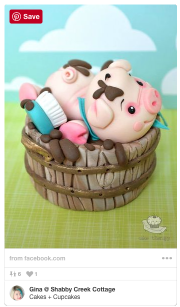 This would be PERFECT for the baby shower! Love this sweet little pig cake!