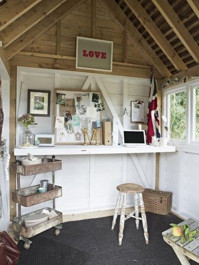 Lots of great she-sheds, like this office
