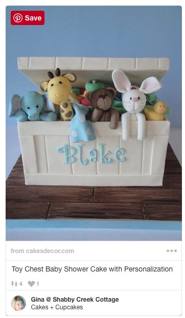 A toy box cake! Definitely remembering this one for the baby shower!