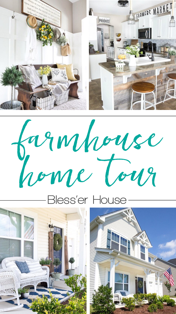 Gorgeous farmhouse home tour from Bless'er house. So many great farmhouse style decorating ideas!