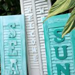 Love these cute signs made from old shutters!