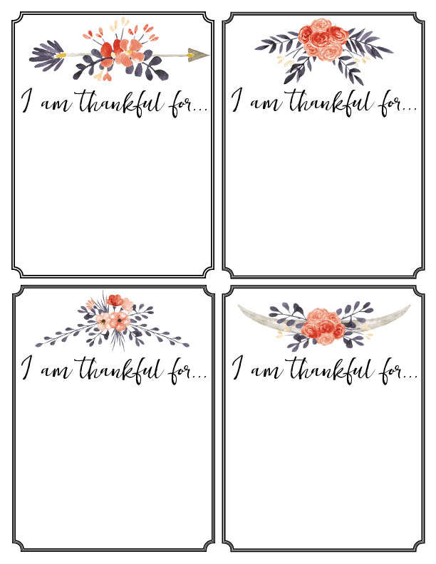 Thankful Cards Printable