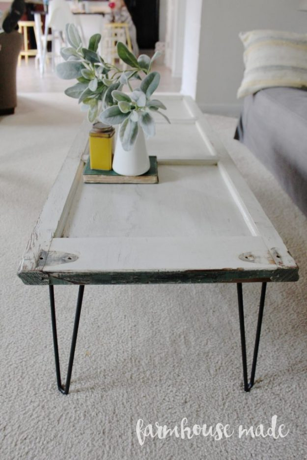 Coffee table made from an old shutter - so many great ideas here!