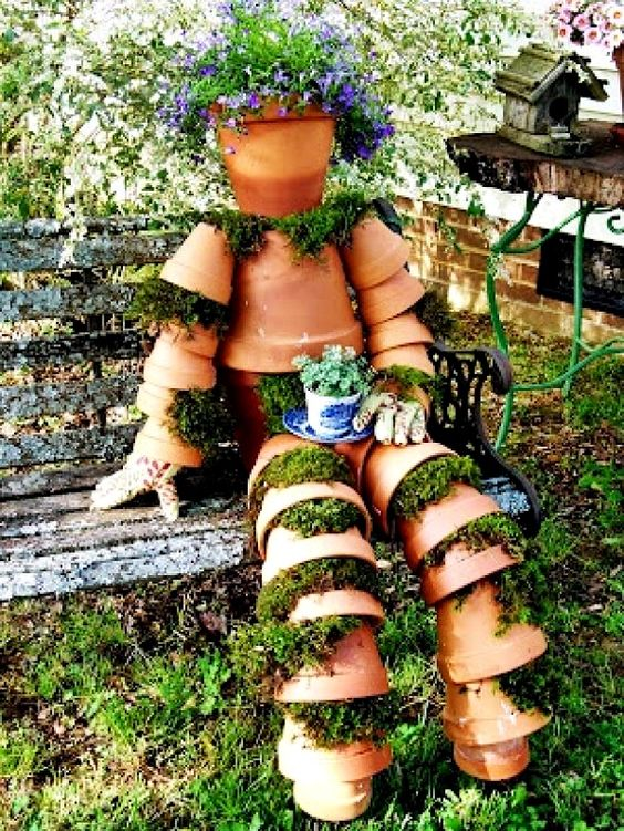 Terra cotta pots projects diy ideas for Love your garden designs