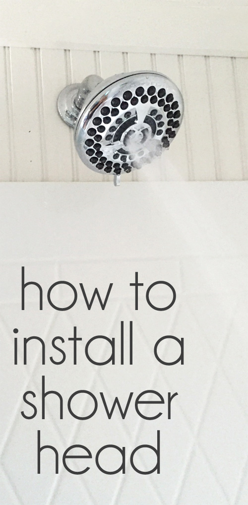 how to install a shower head (it's really simple!)