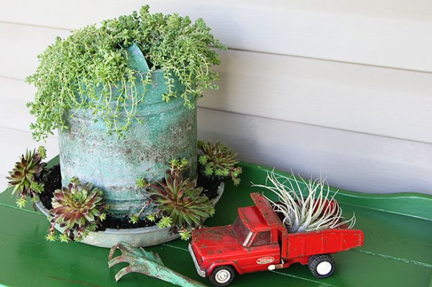made from repurposed farm equipment. Tons of great ideas in this post!