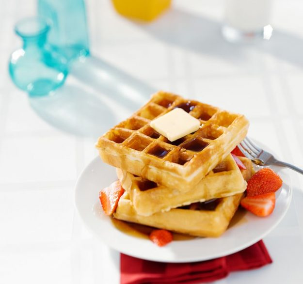 This waffle recipe looks SO good! Wouldn't it be perfect for dessert waffles? YUM!
