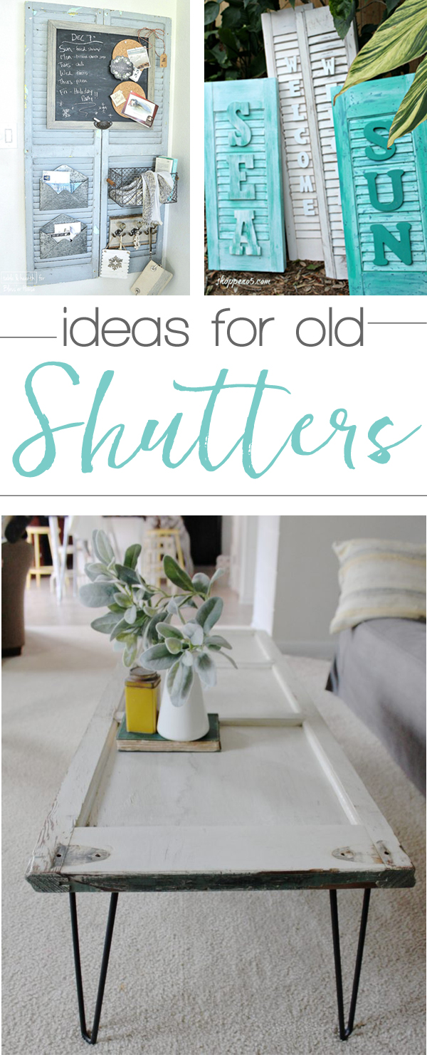 So many great ways to use old shutters!
