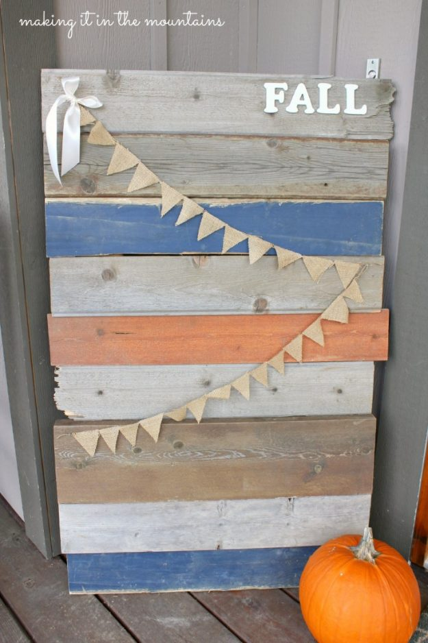 gorgeous idea on how to reuse barn wood