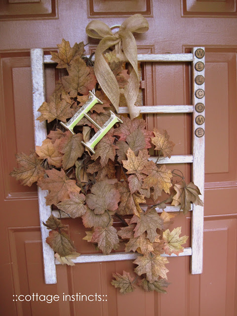 How to use old cribs: fall wreath. Love this idea and all the others - but number 9 is my favorite!