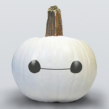 disney inspired pumpkins - baymax!!!