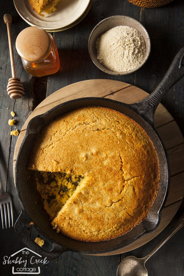 This cornbread recipe looks just like the one my grandma used to make! This would be so good with a big bowl of chili!