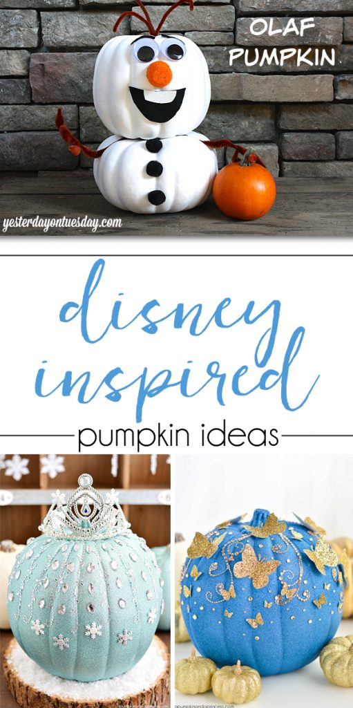 So many gorgeous disney inspired pumpkin ideas!
