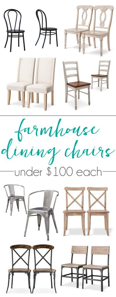 differently ecf0a 014cc Farmhouse dining chairs for under $100 each