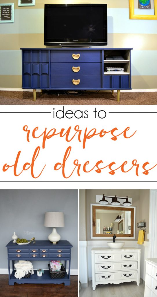 So many great dresser repurpose ideas - now I know what to do with that broken dresser!