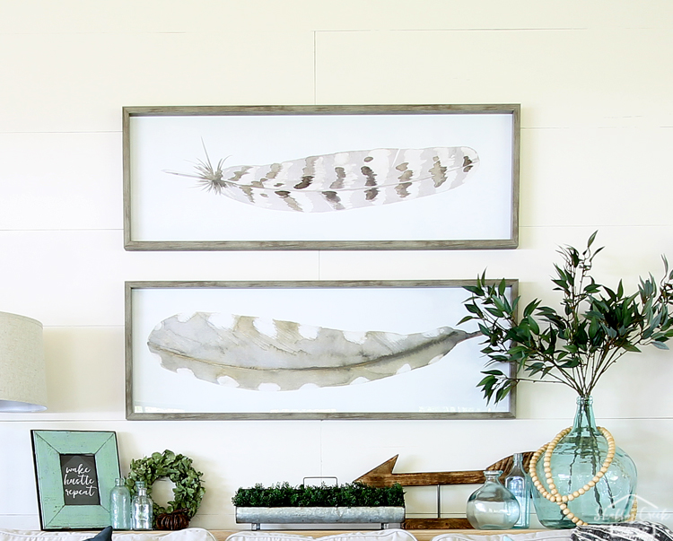 Modern farmhouse style decor