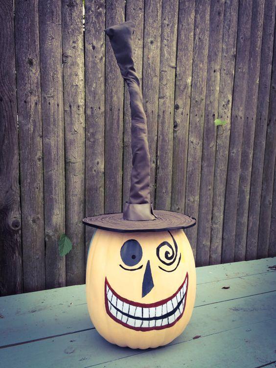 Nightmare Before Christmas pumpkin - the mayor! I love that movie!