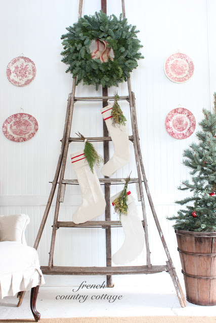 Old Ladders Repurposed For Decorating