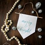 Pretty Christmas banner made to look like glitter without all the mess. I'd LOVE to do one of these for my living room!