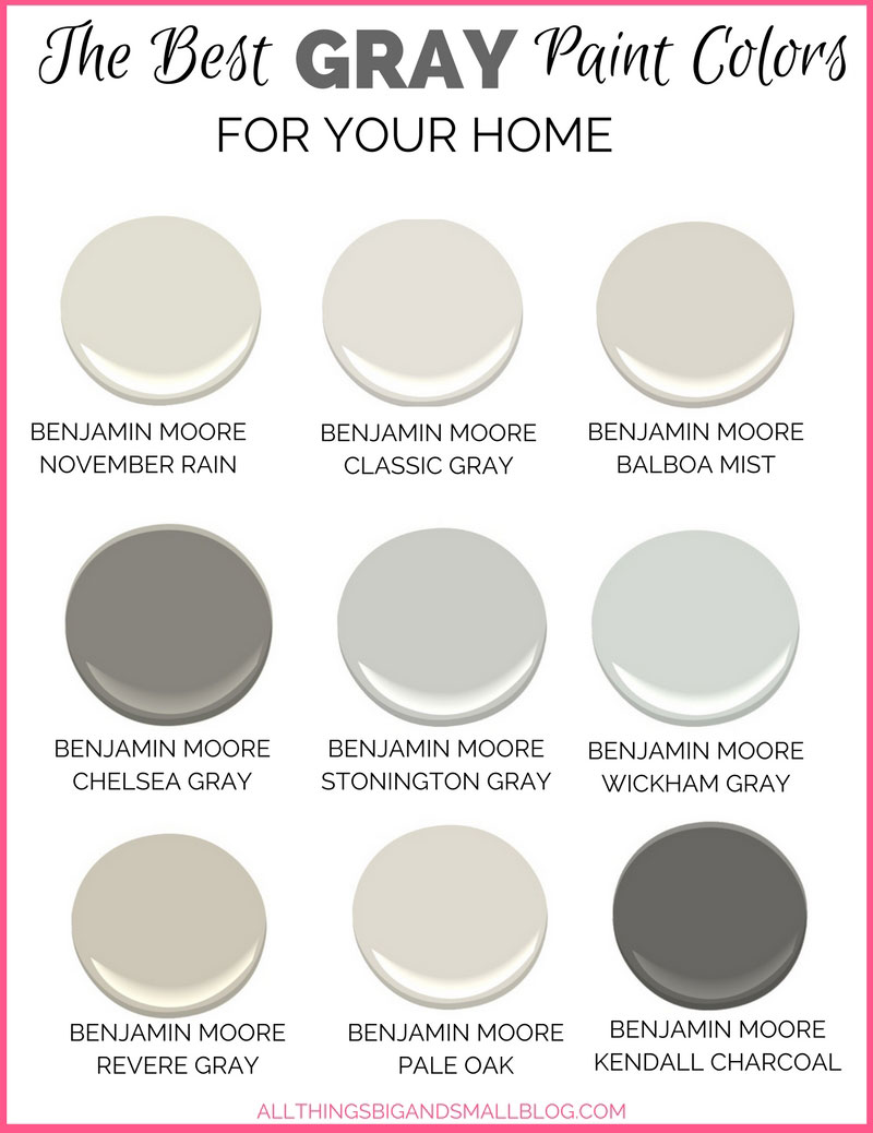 Gray paint colors for your home best benjamin moore for Best color to paint walls when selling a house