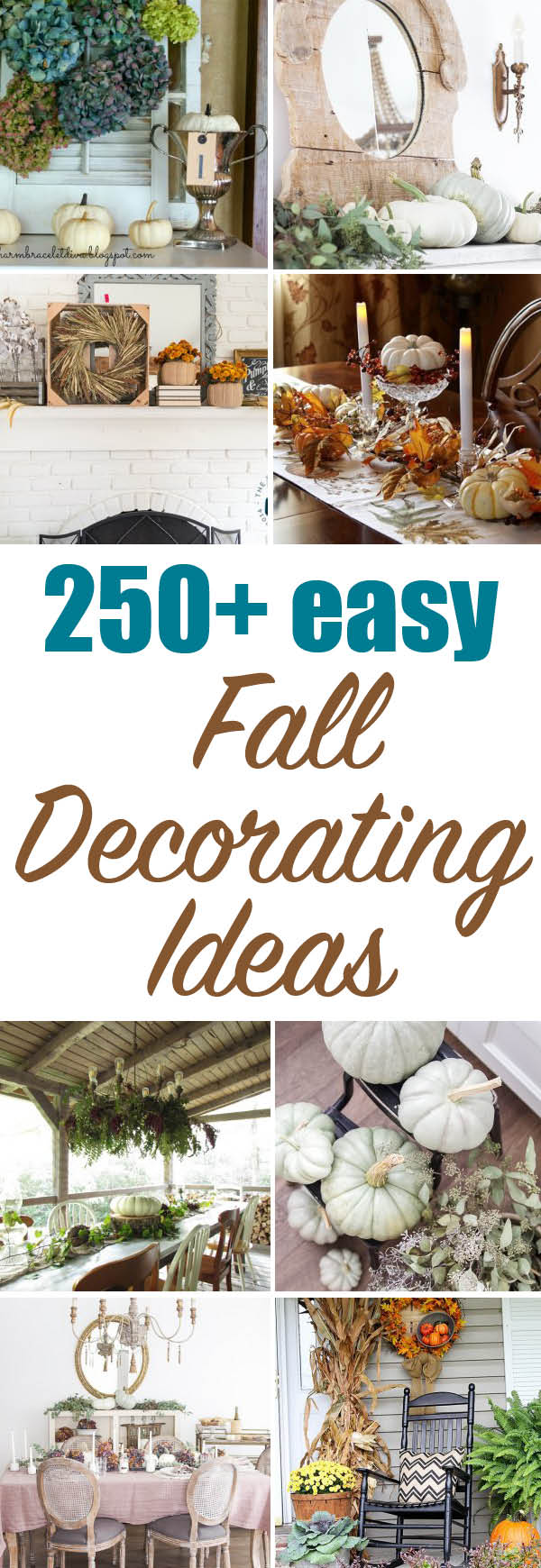 250+ lovely fall decorating ideas - I love them all!