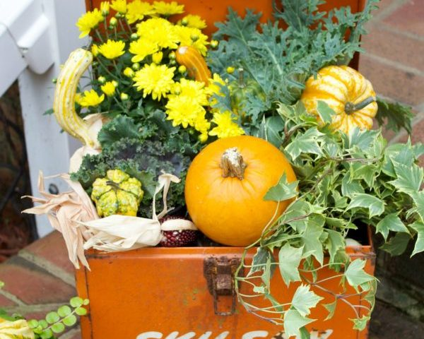 Vintage fall planter