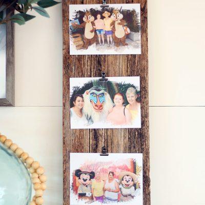 DIY barn wood photo frame