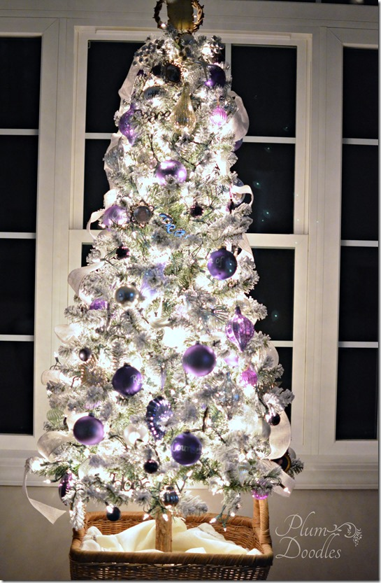 christmas tree decorating ideas purple silver so unique - Silver And White Christmas Tree Decorations