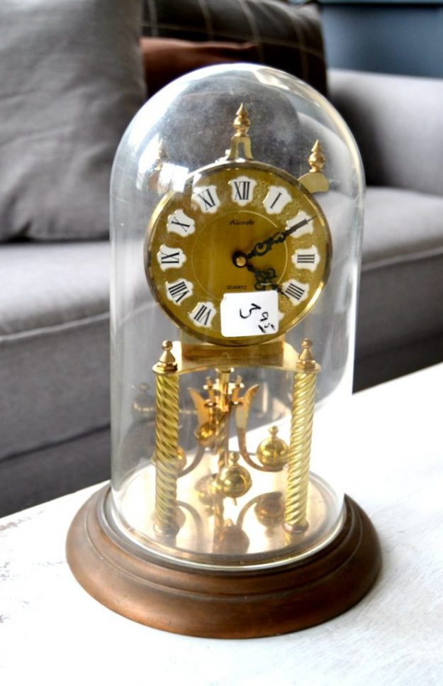 Christmas cloche made from a thrift store clock - love this idea!