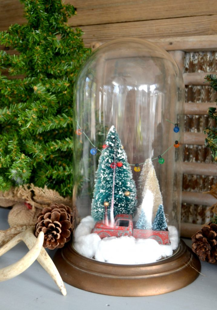 Christmas Cloche From A Made From A Thrift Store Clock