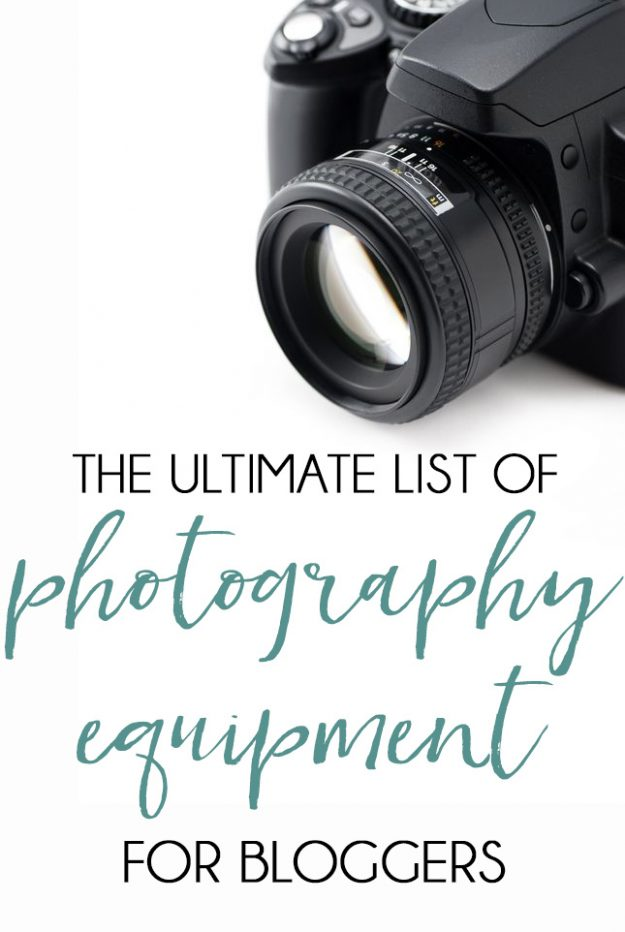 Photography Equipment for Bloggers - there's some great things here that I never even thought of.