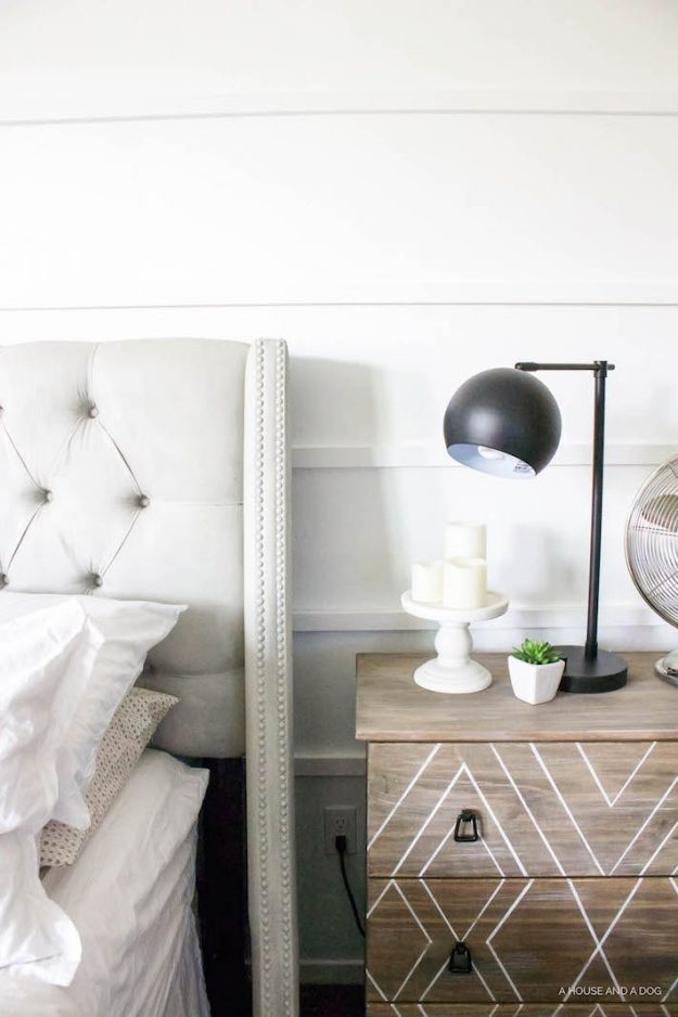 Gorgeous bedroom painted Valspar Ultra White - tons of other great white paint colors here, too!