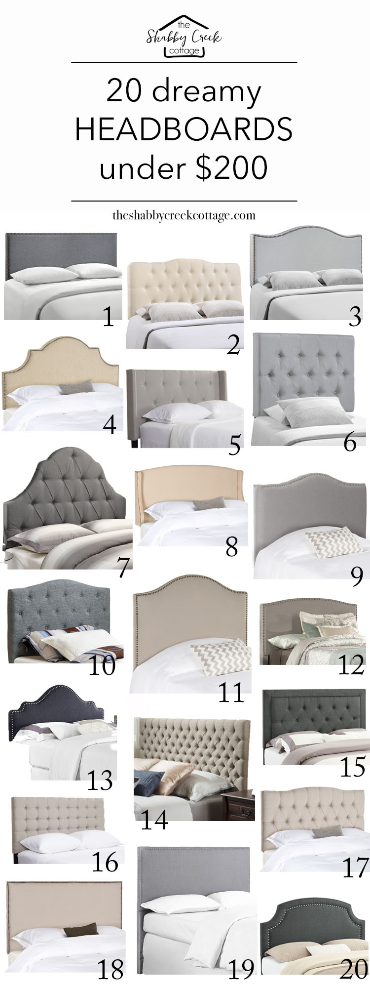 Love these headboards - gorgeous and on budget!