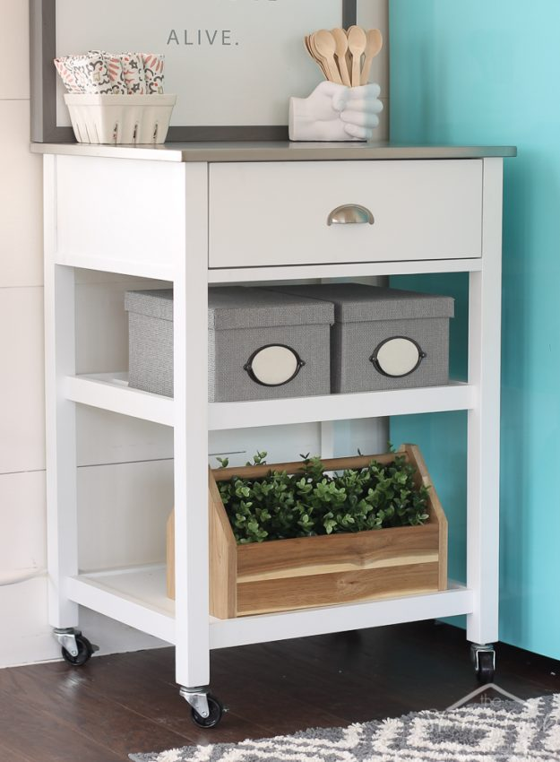 easy little kitchen in an afternoon - great idea for an office