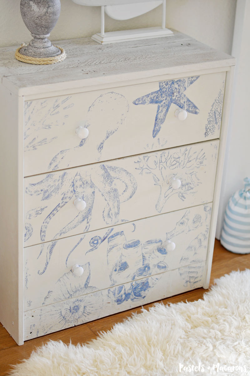 DIY Nautical Ikea Rast Hack. This is a perfect DIY for a baby's nursery or a coastal home