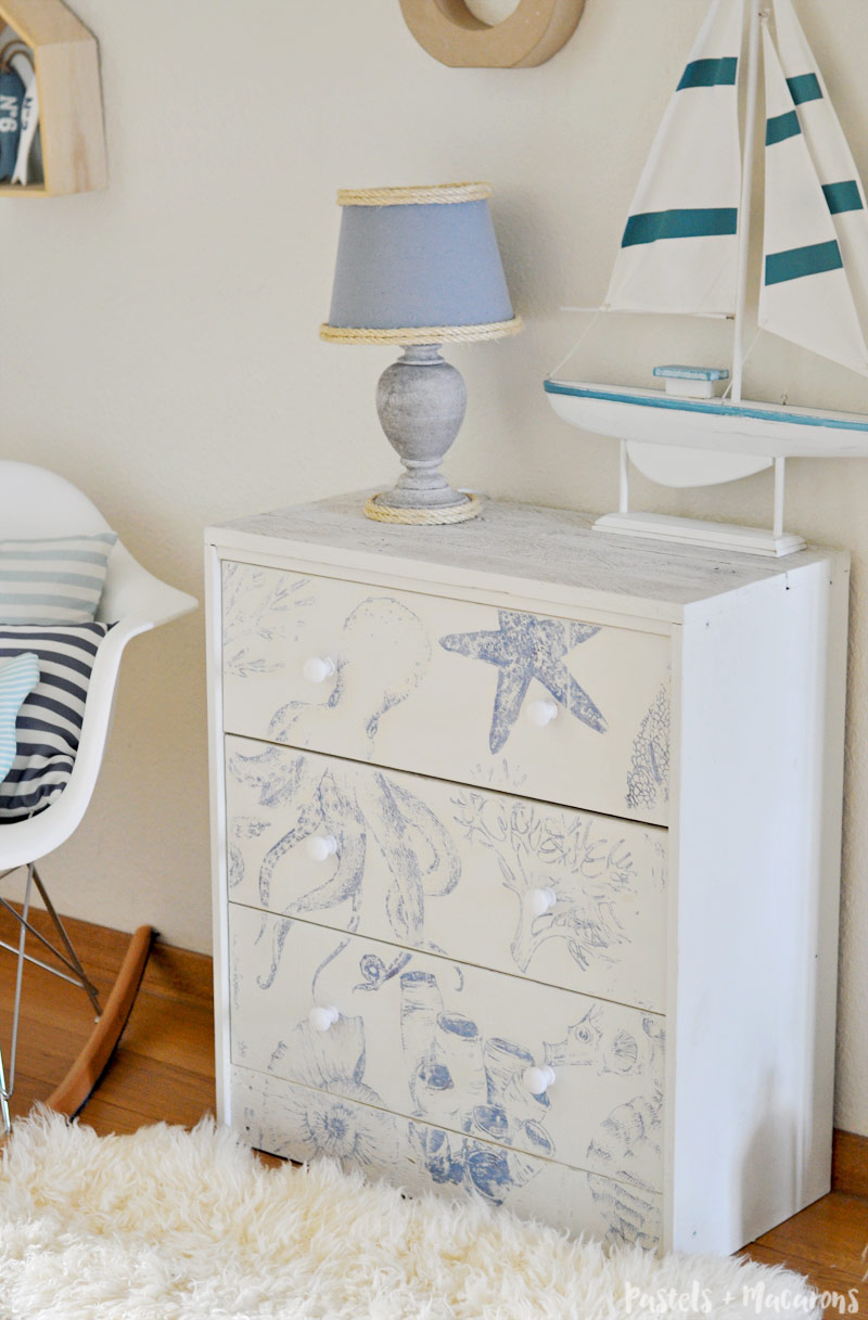 Nautical Themed Bedroom Decor: IKEA RAST HACK: Transform A Basic Dresser To Beach Cottage