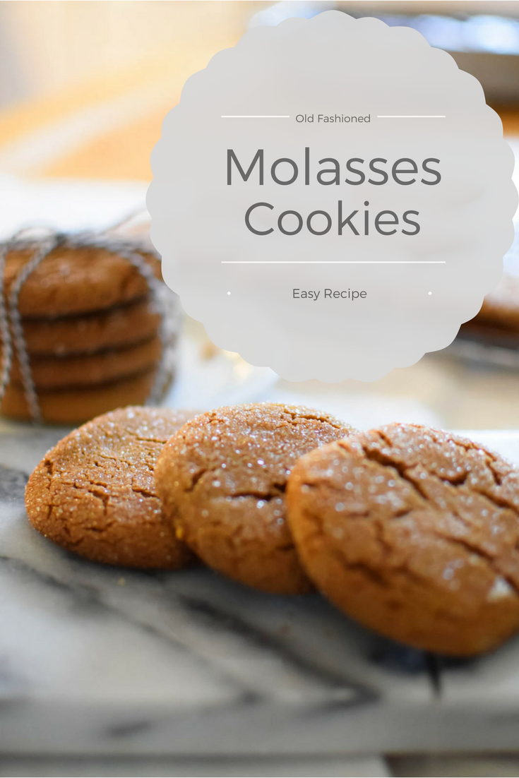 Molasses Cookies are easy to make and a family favorite! The Shabby Creek Cottage www.theshabbycreek.com