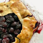 how to make an easy homemade sweet cherry galette
