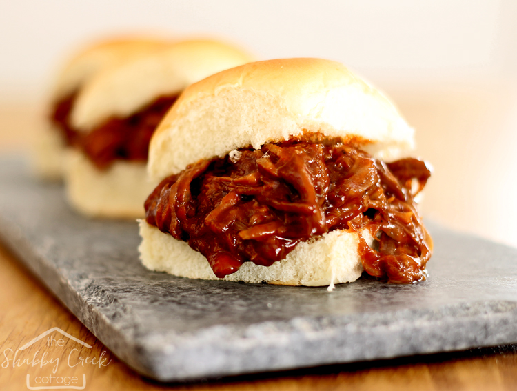 BBQ Sliders (with homemade BBQ sauce)