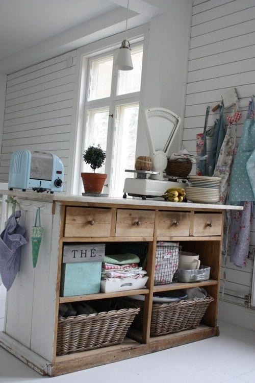 Repurposed Dresser to Kitchen Island