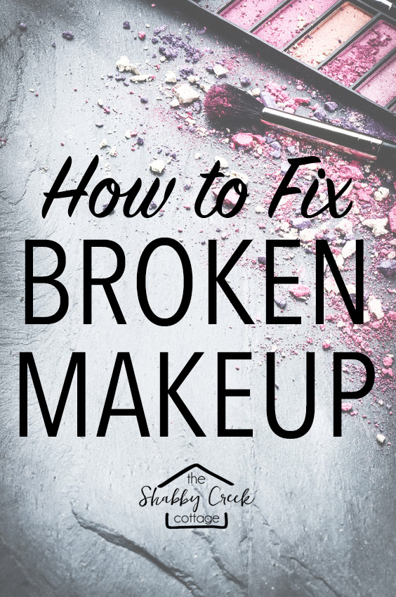 Now I know how to fix broken makeup the next time I drop it!