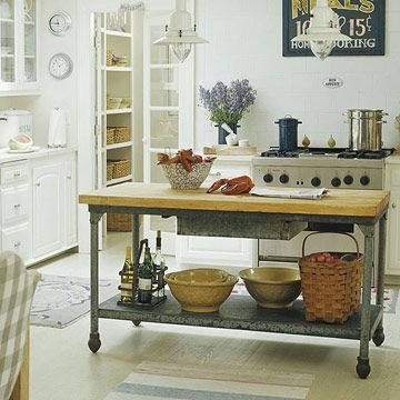 Upcycled Kitchen Island Ideas: Turn an Industrial Metal Table into a Kitchen Island