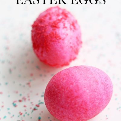 Salt Dyed Easter Eggs