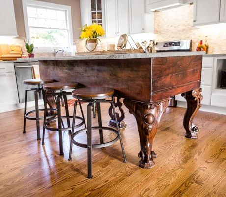 Awesome Kitchen Island Made From An Old Piano