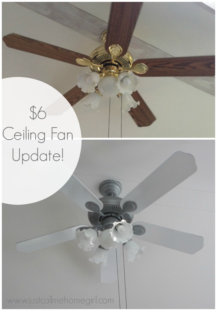 Use spray paint to update a boring basic ceiling fan