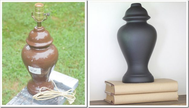 Spray paint the base of a lamp to turn it into a decorative object!